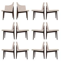 Edward Wormley Set of 12 Dining Chairs for Dunbar