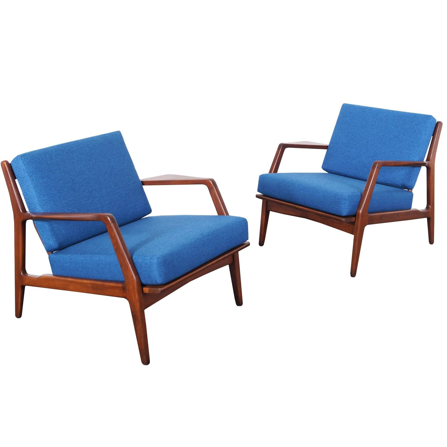 This sculptural pair of lounge chairs by ib kofod larsen is no longer - This Sculptural Pair Of Lounge Chairs By Ib Kofod Larsen Is No Longer 1