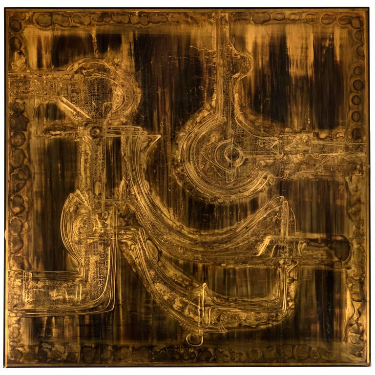 Bernhard Rohne Acid Etched Wall Sculpture