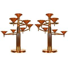 Pair of 1970 Candelabra, Candles Lighting