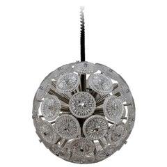 Beautiful Italian Vintage Glass Sputnik Pendant Light Chandelier, 1960s