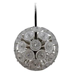 Beautiful Italian 10-Arm Glass Sputnik Pendant Chandelier, 1960s