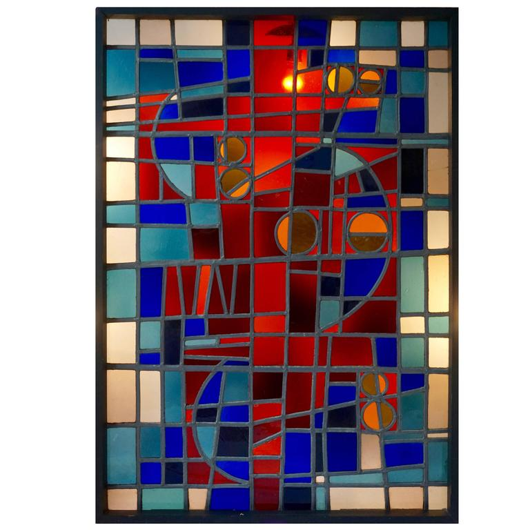 Large Stained Glass Window Panel