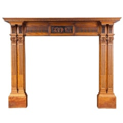 Antique Satinwood Mantelpiece