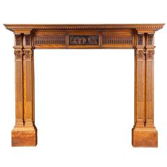 Antique Satinwood Mantelpiece