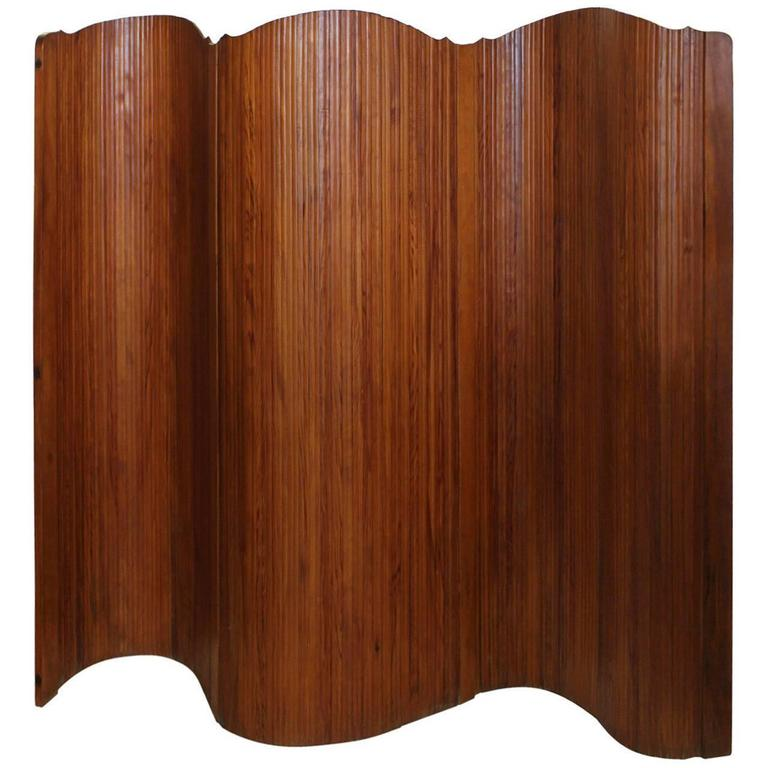 Art Deco French Wood Screen by S.N.S.A For Sale
