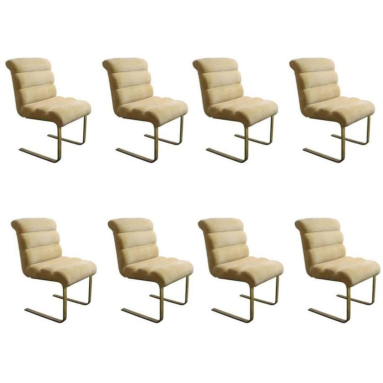 63f387d0de Set of Eight Lugano Dining Chairs by Mariani for Pace at 1stdibs