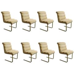 Set of Eight Lugano Dining Chairs by Mariani for Pace