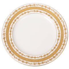 Six (6) Custom Tiffany Antique English Gilt Dessert Plates