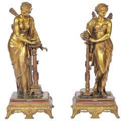 Pair of 19th Century Classical Bronzes