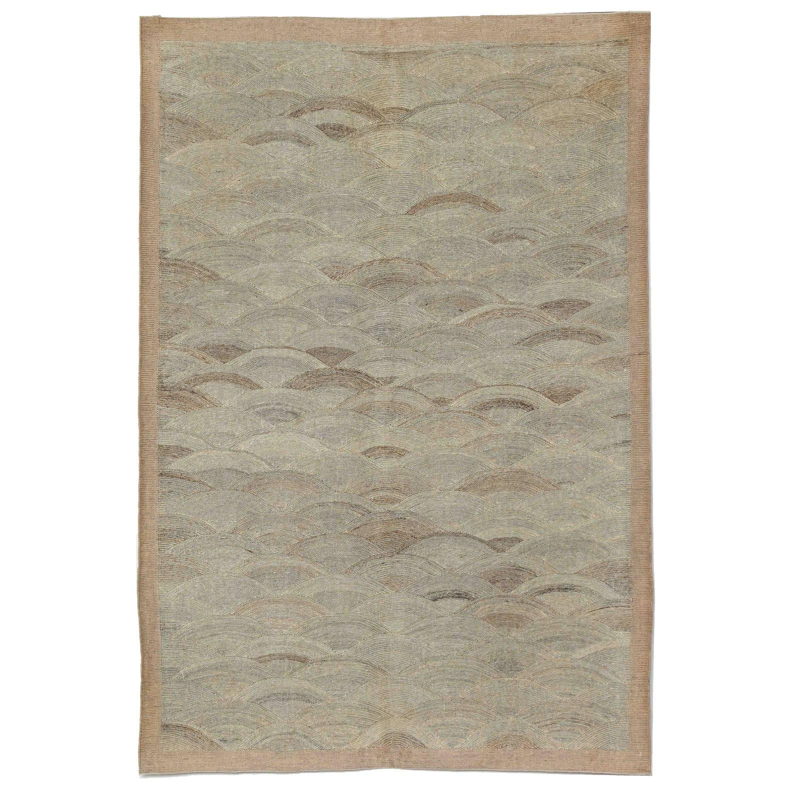 Orley Shabahang Signature Flat-Weave Carpet in Pure Handspun Wool, Undyed Field