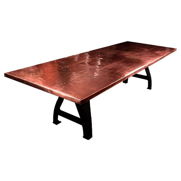 Copper Clad Dining Table For Sale At 1stdibs