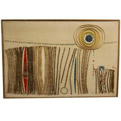 Mixed-Media Abstract Collage, 1966