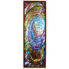 Stained Glass Framed Signed by Victor Deniau