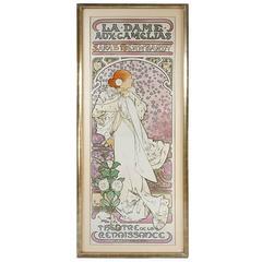 """Alphonse Mucha """"La Dame Aux Camelias"""" Lithography"""