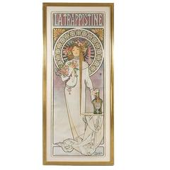 "French Art Nouveau Lithograph, ""La Trappistine,"" by Alphonse Mucha"