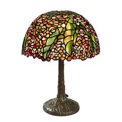"Tiffany Studios New York  ""Pony Begonia"" Table Lamp"