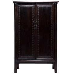 Tall Chinese Greek Key Cabinet, c. 1850