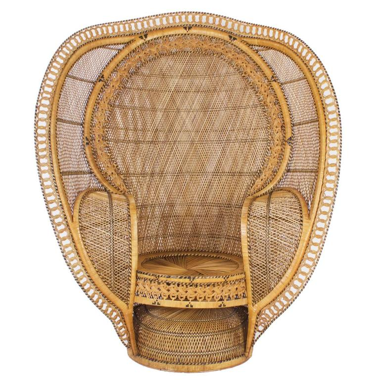 Charming Wicker Peacock Chair #10 - 1930u0027s Rattan Peacock Chair For Sale