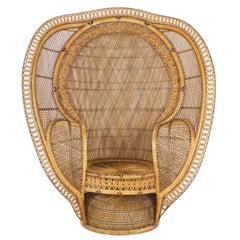 1930's Rattan Peacock Chair