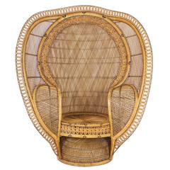 1930's Rattan Peacock Chair