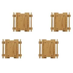 Set of Four of Wall Lights in Pine by Jonas Hidle, 1970s