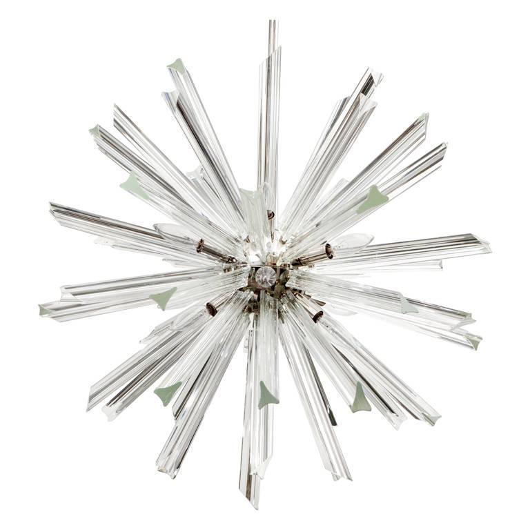 Venini for Camer Crystal Sputnik Chandelier