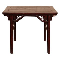 Chinese Red Stained Elmwood Altar Table