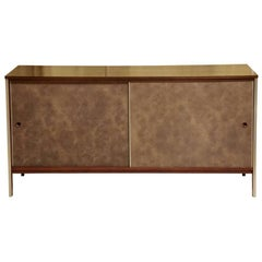 Paul McCobb Calvin Walnut Buffet with Top Cabinet