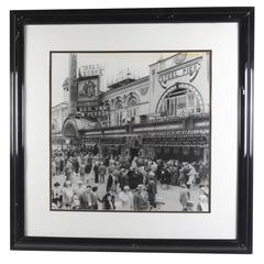 Contemporary Photo Print of Vintage Atlantic City Boardwalk Black and White