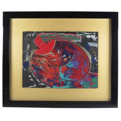 Large Contemporary Modern Framed Wall Art