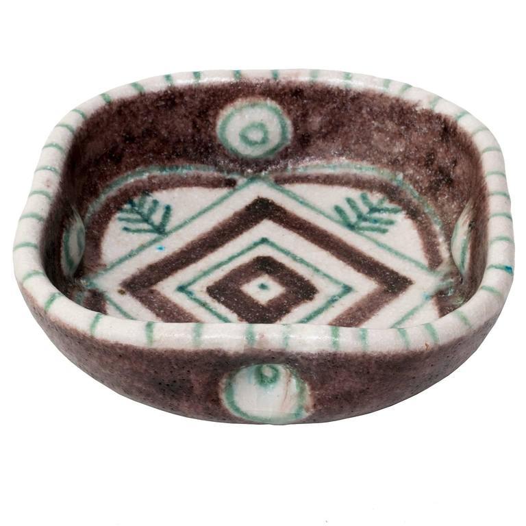 Guido Gambone Italian Midcentury Modern Studio Ceramic Bowl