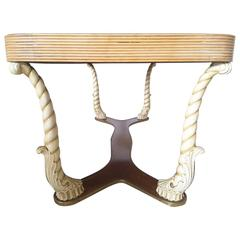 Unique Italian Dining Table by Pier Luigi Colli for Fratelli Marelli
