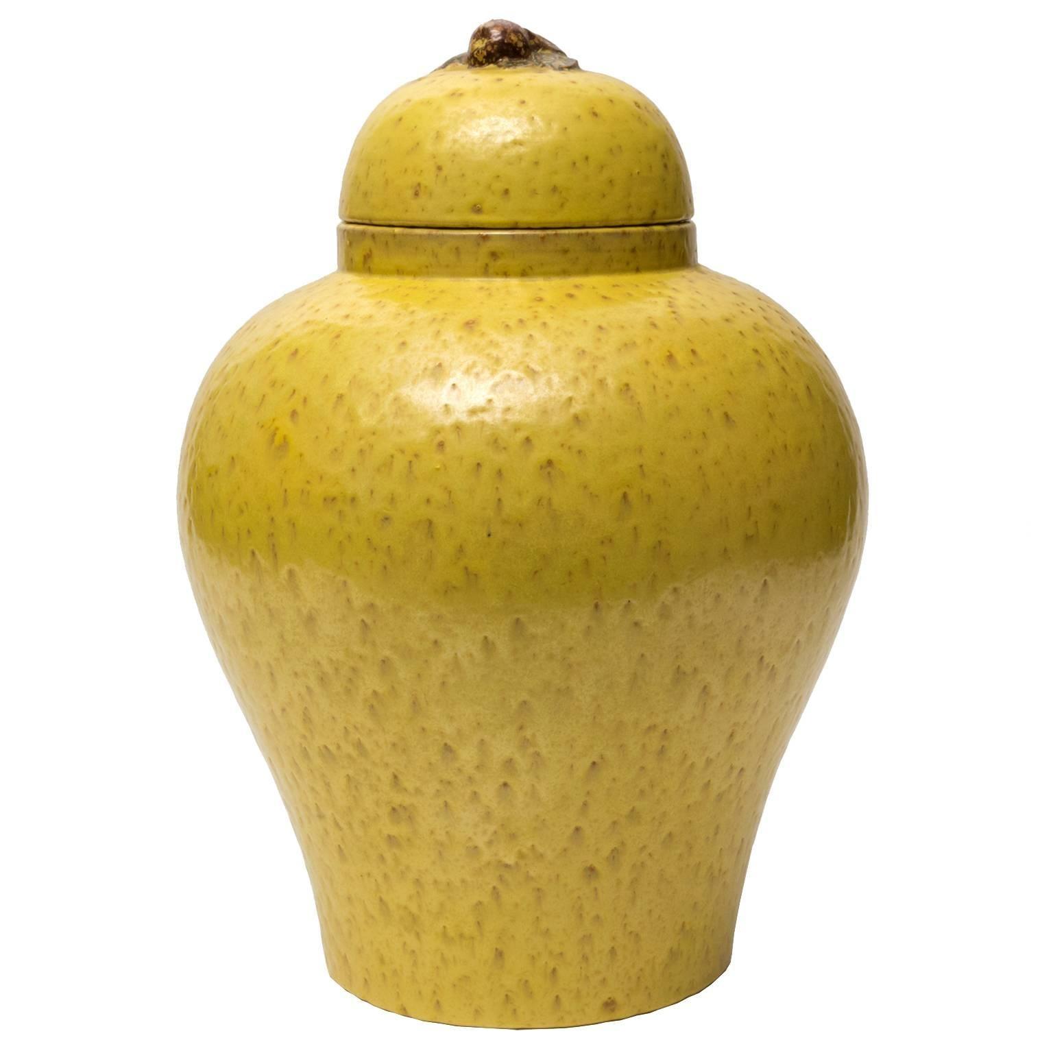 Large Scandinavian Modern Jerk Werkmaster Ceramic Jar for Nittsjo