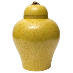 Large Scandinavian Modern Jerk Werkmaster Ceramic Jar for Nittsjo
