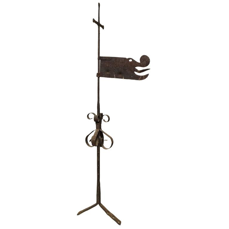 Swedish Iron Weather-Vane with Dragon with Date 1704