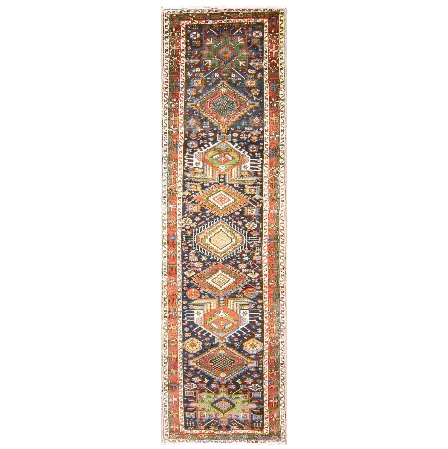 Vibrant Karaja, Heriz, Runner For Sale At 1stdibs