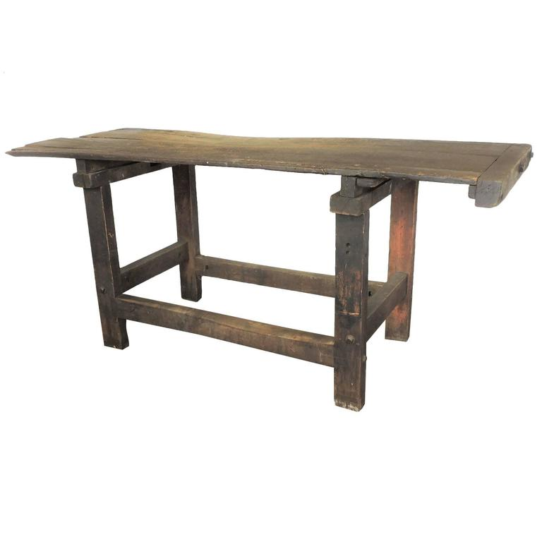 Antique American Industrial Carpenters Work Table Bench For Sale At 1stdibs