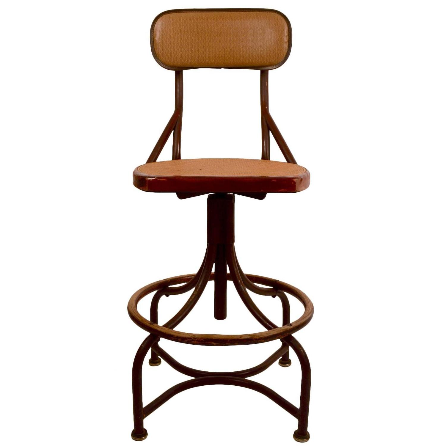 Set Of Six Western Electric Telephone Operators Adjustable Industrial Stools  For Sale At 1stdibs