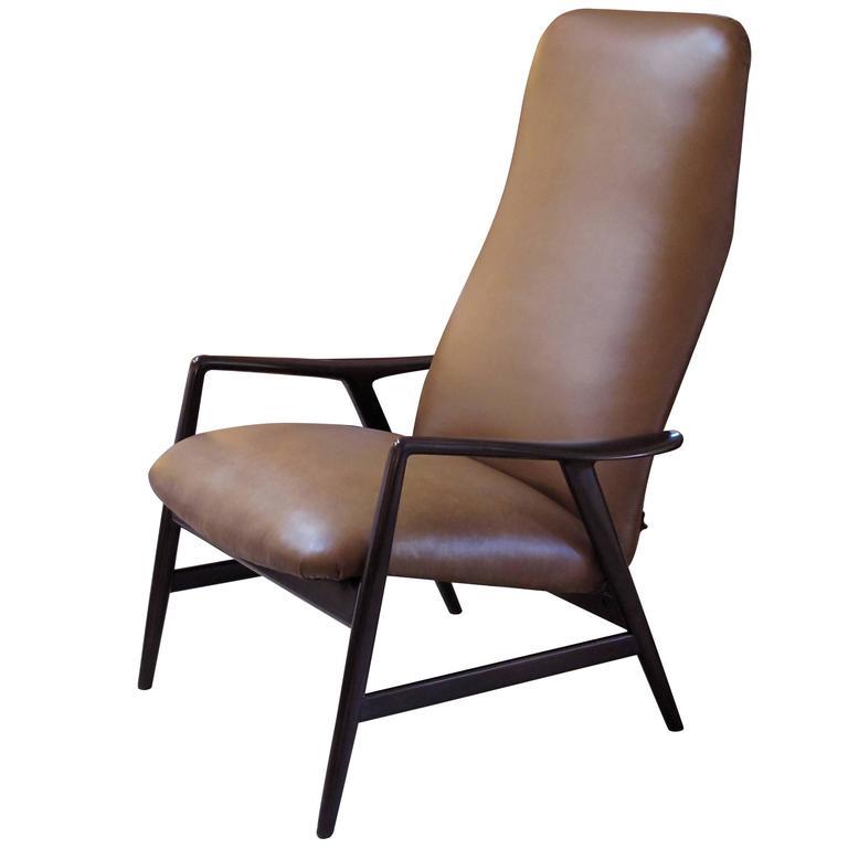 Stylish Danish Modern Alf Svensson for Fritz Hansen Two-Position Reclining Chair