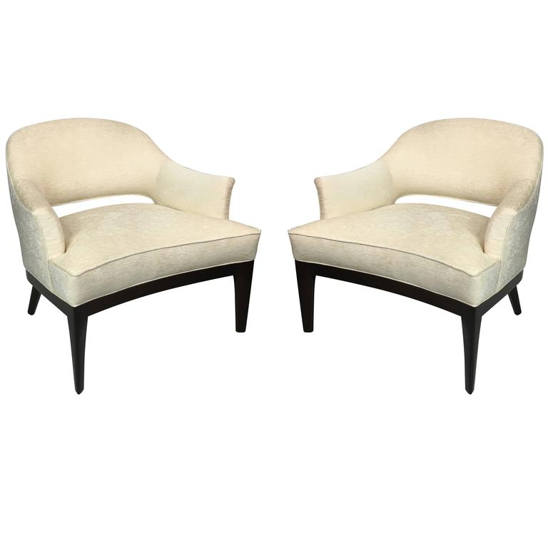 Chic Pair of Lounge Chairs by Harvey Probber