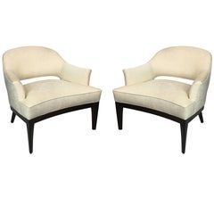 Chic Pair of Lounge Chairs