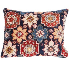 Pillow Made Out of a 19th Century Caucasian Shrivan Rug Fragment