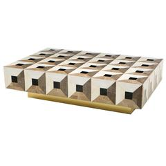 Moonlight Kaleidoscope Coffee Table in Marble Marquetry