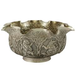 Antique Burmese Silver Bowl