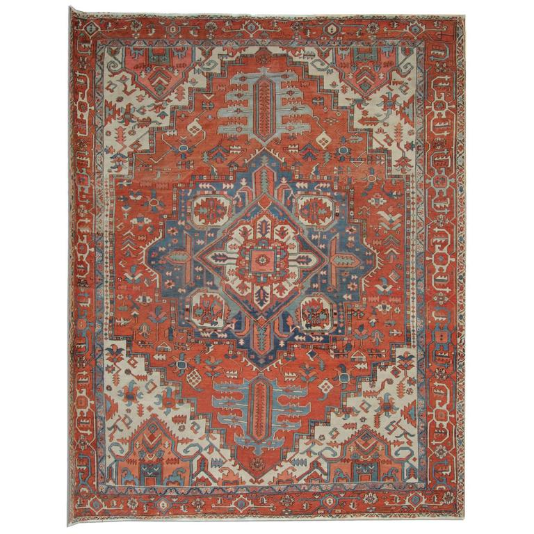 Antique Rugs, Persian Rugs, Carpet From Heriz For Sale At
