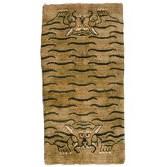 Antique Tiger Pelt Rug