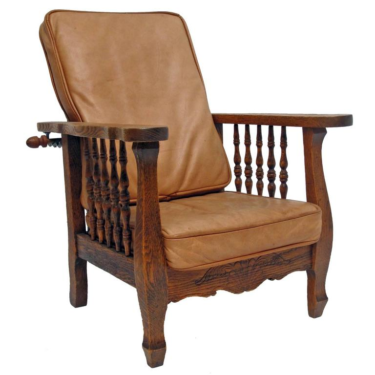 American Arts and Crafts Morris Style Child's Chair