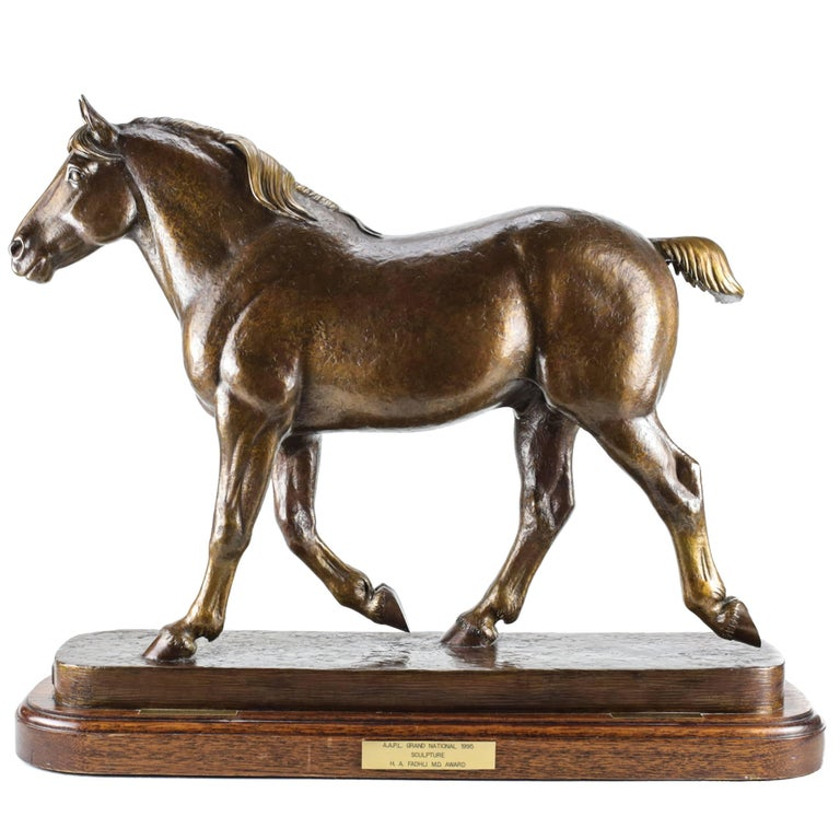 """Bronze Sculpture of a Horse """"Herculean"""" by Marilyn Newmark For Sale"""