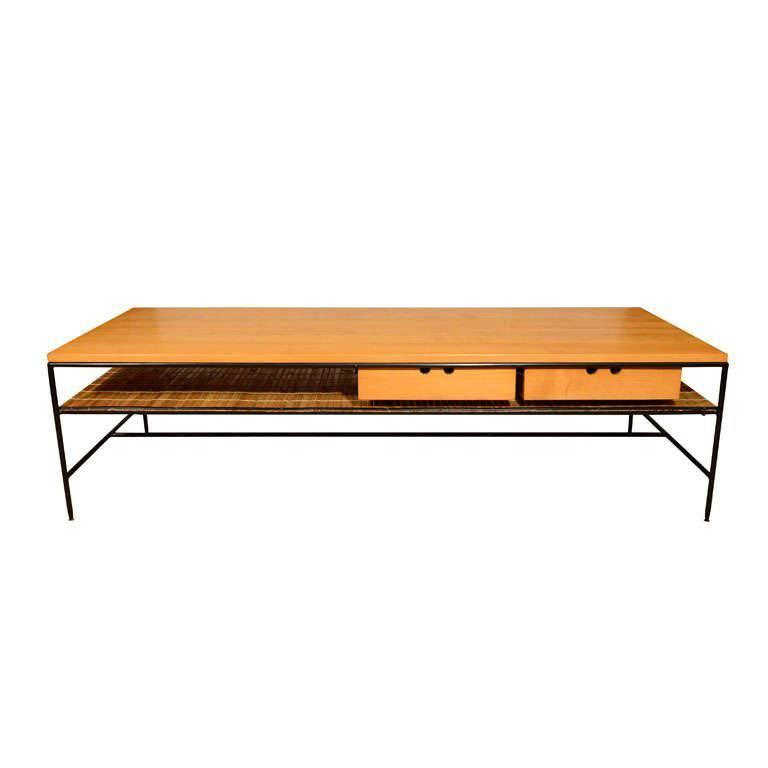 Rare Paul Mccobb Coffee Table Of Maple And Iron For Sale At 1stdibs